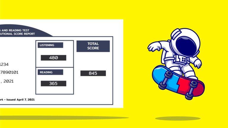 รีวิวสอบ TOEIC 2021 เตรียมสอบยังไงให้เพิ่มคะแนนได้ 200 คะแนน(จาก 634 เป็น 845)